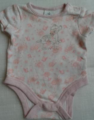 DISNEY BABY,  Baby Girls Short Sleeved BAMBI Vest.  Age Up to 1 month.
