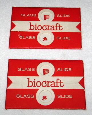 Vintage Biocraft Microscope Glass Slides 2 Packs 4 Total Nos