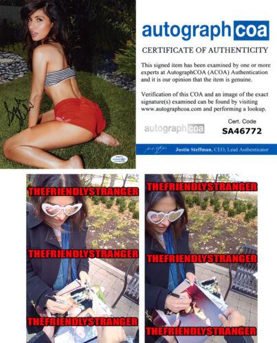 SARAH SHAHI signed Autographed 8X10 PHOTO j PROOF - HOT Sex/Life ACOA COA