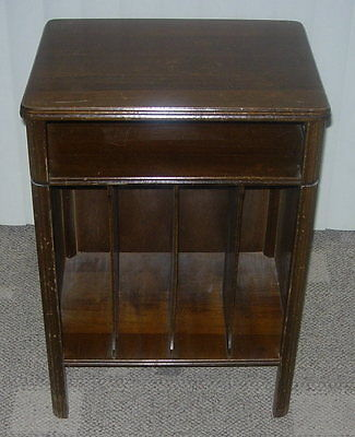 VINTAGE  MUSIC STAND RECORD CABINET  AUDIOPHILE  ART DECO  MACHINE AGE STYLE