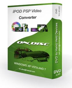 DVD TO iPOD, IPAD VIDEO CONVERTER CD AVI MP4 SOFTWARE