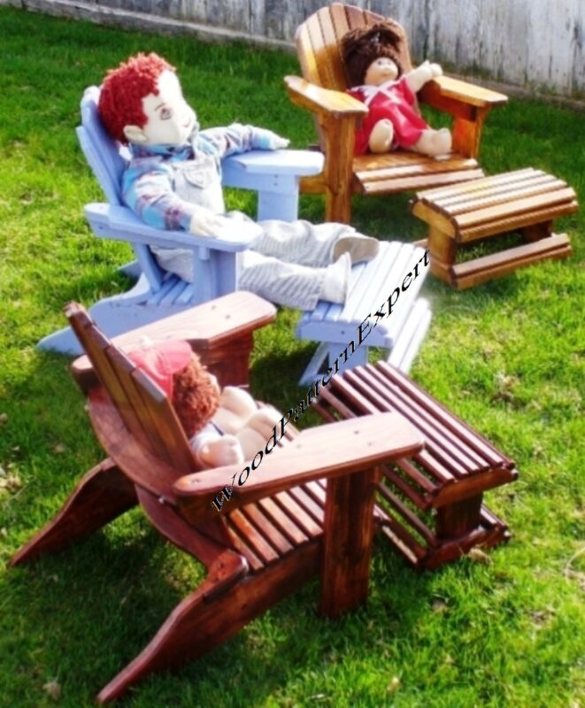 CHILD SIZE ADIRONDACK CHAIR Paper Patterns BUILD IT LIKE A EXPERT Easy DIY Plans