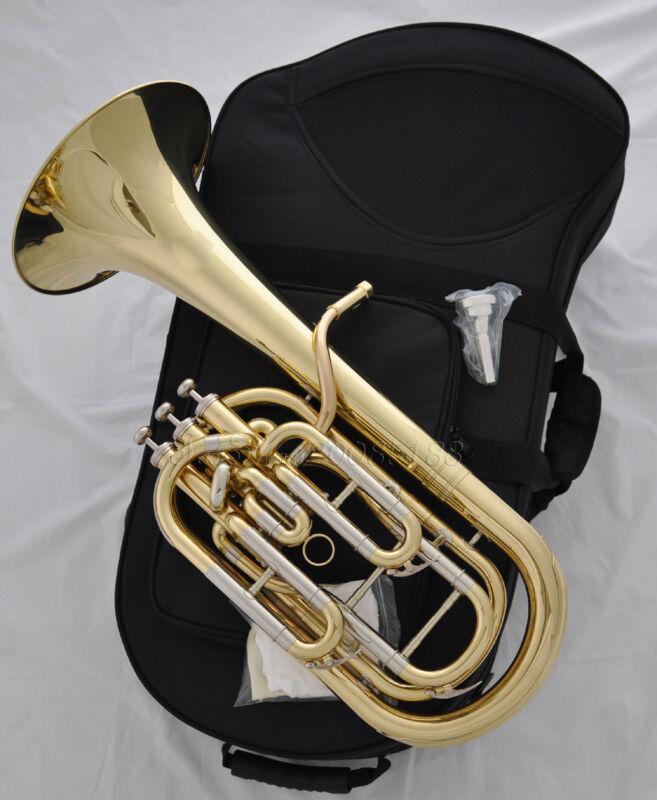 Professional JINBAO Gold lacq. Bb Baritone Horn JBBR-1240 Cupronickel tuningpipe