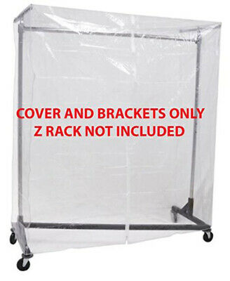 Clear Z Rack Cover With Zipper And Square Tube Bracket Combo Kit