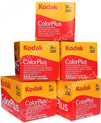 5 x KODAK COLORPLUS 200 35mm 36exp CHEAP COLOUR PRINT CAMERA FILM-1st CLASS POST
