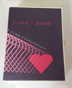 William Shakespeare Book Clutch Bag
