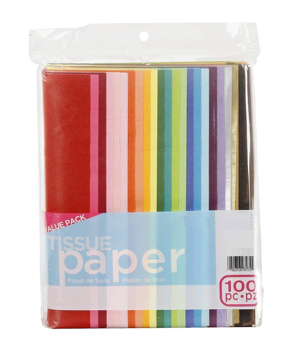 100-Piece Gift Wrap Tissue Paper Bulk 20x26 For Wrapping Cra
