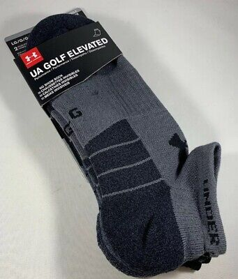 Under Armour Golf Elevated Socks 🧦 2 Pack No Show Men Large UA 🏌️