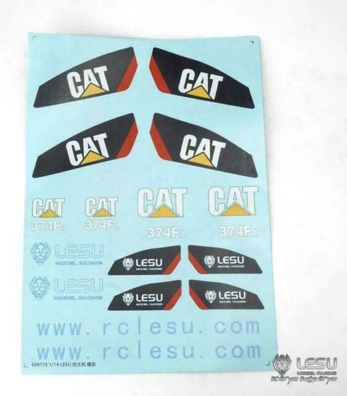 1/14 RC LESU Decal Sticker 1/14 Carter 374 Hydraulic Excavator Model BA B0002 L