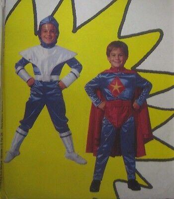 Vtg McCalls 7341 SUPER HEROES w/ BRIEFS COSTUME Sewing Pattern Child 10-12 UNCUT](Female Superhero Plus Size Costumes)