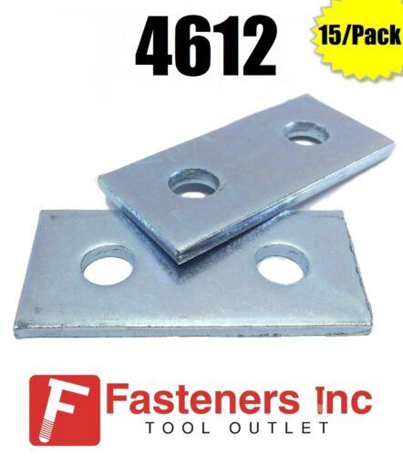 (QTY 15) 2-Hole Flat Splice Plate for Unistrut / B-Line Channel #4612 P1065