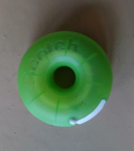Scotch Tape Donut-shaped Dispenser with tape, NEW, green, Refillable