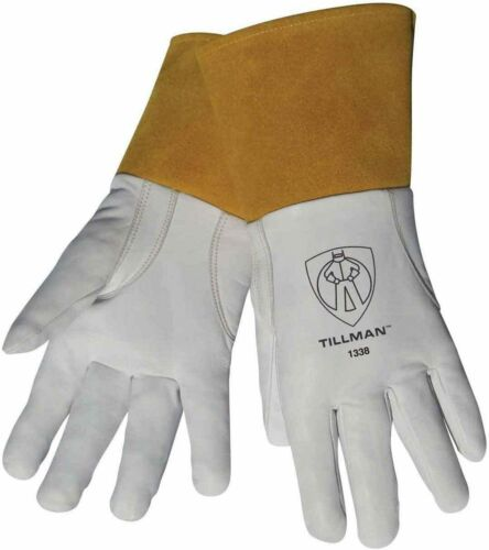 "Tillman 1338 Top Grain Goatskin TIG Welding Gloves with 4"" Cuff, Size SM-XL"