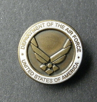 Department of the AIR FORCE USAF Small Tie Hat or Collar Lapel Pin 1/2 inch