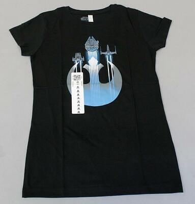 Shipping Wars Women (Teeturtle x Star Wars Women's Resistance Ships Graphic T-Shirt JM4 Black)