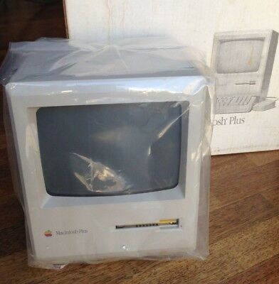Pristine 1989 Apple Macintosh Plus 1MB Never Opened and Never Used