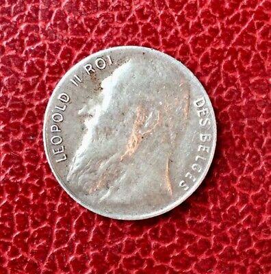Belgique - Léopold II - Très Jolie monnaie de 50 Centimes 1901 FR