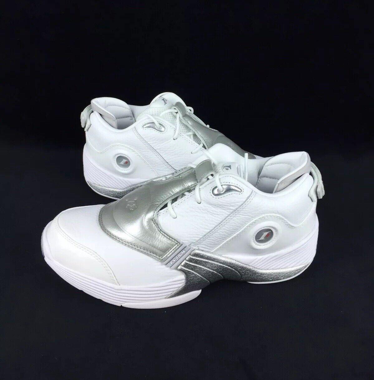 Reebok Mens White Blue Answer XII Shoes