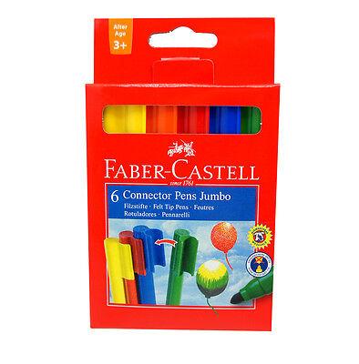 FABER-CASTELL 6 Jumbo Pen Filzstifte Buntstifte für Kinder 3+ - auswaschbar