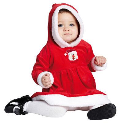 Rubies 12654 - Little Miss Santa * Nikolaus * Weihnachten * 80/86 Baby - Baby Little Santa Kostüm