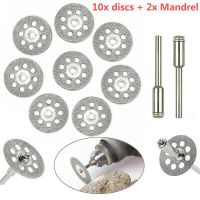 10pcs Diamond Cutting Wheels For Dremel Rotary Tool Cut Off Disc Saw Blades Set