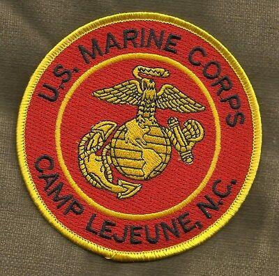 USMC LOGO SYMBOL US MARINE CORPS CAMP LEJEUNE, NC MILITARY PATCH