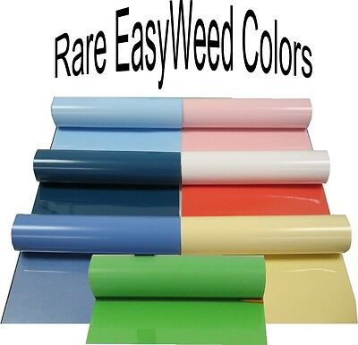 Easyweed Rare Colors Siser Heat Press Transfer Vinyl Kit 7 Rolls 15x12 Each