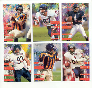 1995-Fleer-Chicago-Bears-ERIK-KRAMER-STEVE-WALSH-MARK-CARRIER-TRACE-ARMSTRONG