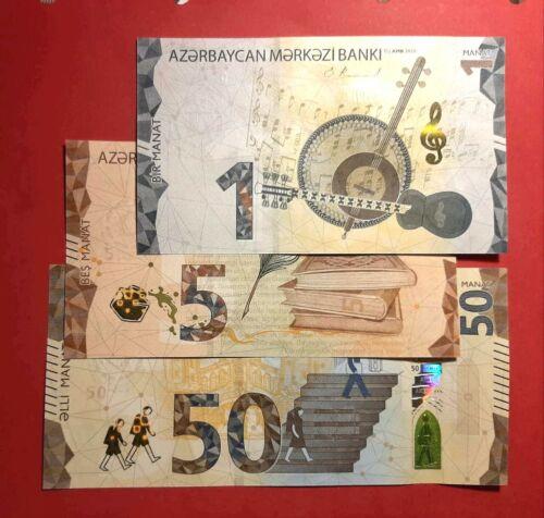AZERBAIJAN 2020 * NEW * 1+5+50 MANAT * FULL SET * UNC