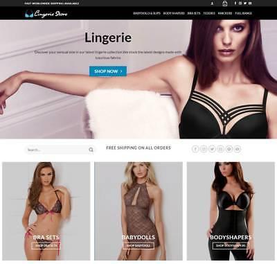 Lingerie Website Business - Earn 321 A Sale. Free Domainhosting