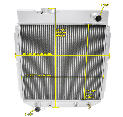 1965-1966 Ford Mustang-Racing-Champion 2 Row Aluminum Radiator for L6 Engine