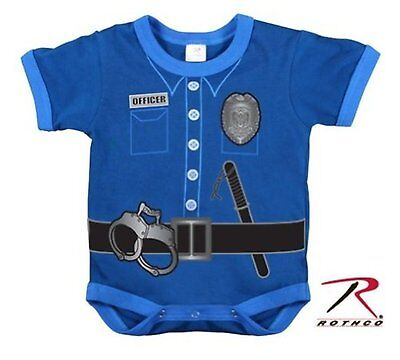 Police Sheriff Officer Uniform Infant Toddler Baby 1 Piece Halloween Costume PJs