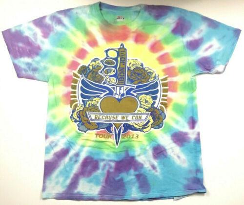 Bon Jovi Because We Can Tour 2013 T-Shirt Tie Dyed Cities Concert Band Tee Sz L