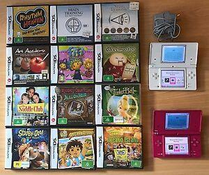 2 x Nintendo DSi Consoles, 12 Games, Charges Browns Plains Logan Area Preview