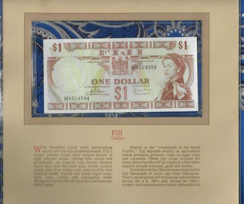Most Treasured Banknotes Fiji 1 dollar 1974 P-71b AUNC Prefix B/4
