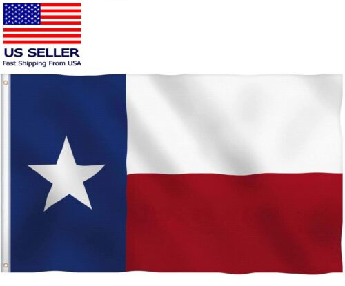 Texas Lone Star TX State Flag Brass Grommets Thick Fabric Double Stitch 3x5 feet