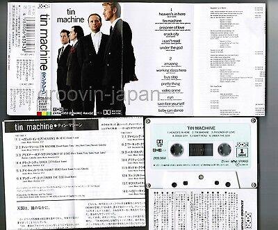 TIN MACHINE st DAVID BOWIE JAPAN CASSETTE ZP28-5860 different artwork PS+INSERT