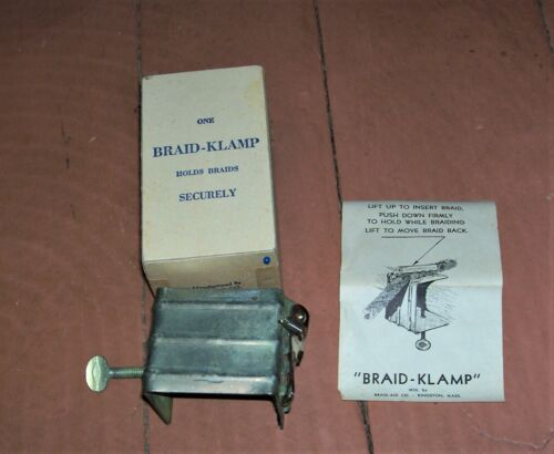 Braid-Klamp Table Clamp For Rug Braiding Tool / Braided Rug Making