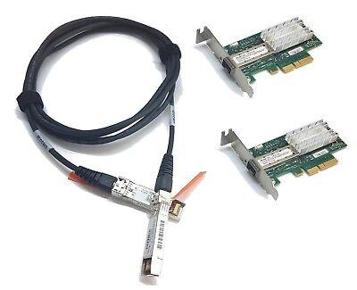 LP 10G Netzwerk Kit 2x Mellanox ConnectX-3 10Gigabit NIC 10GBe 1x 3m SFP+ Cisco