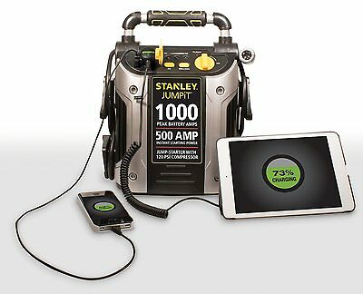 (Battery Jump Starter Air Compressor Peak Portable Car Charger Booster Stanley)