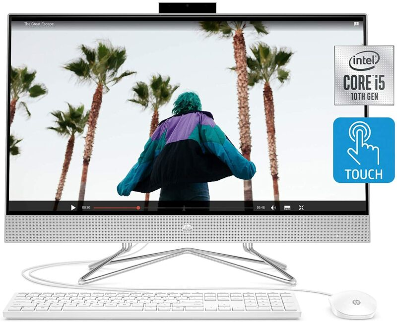 """Hp 27"""" Touchscreen  I5-1035g1 12gb   512gb Ssd W10 All-in-one Desktop Computer"""