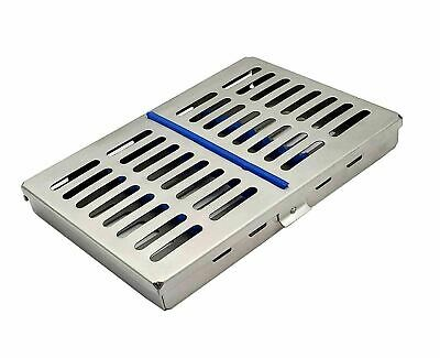 Dental Sterilization Cassette Tray For 10 Instruments Autoclave Stainless Steel