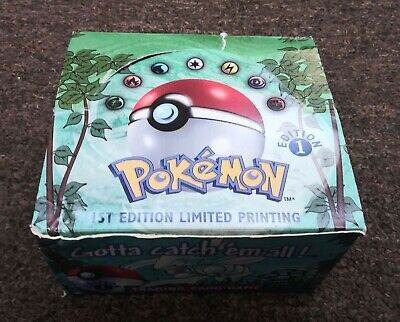 Pokemon EMPTY 1st Edition Jungle Booster Pack Box OPENED!! NO PACKS!!