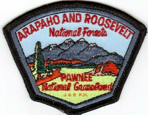 """Wildland Arapaho & Roosevelt National Forests  """"Pawnee"""", CO (5"""" x 4"""") fire patch"""