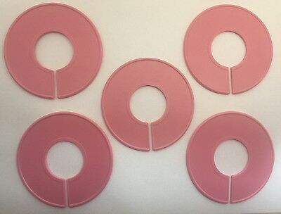 20 Qty Pink Blank Clothing Size Dividers Rack Ring Closet Divider