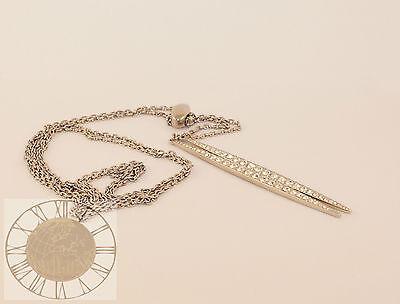 Michael Kors Women's Silver-Tone Necklace MKJ3622, New