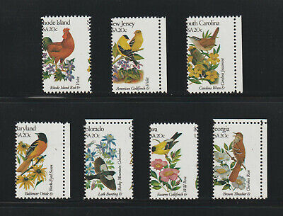 US EFO, ERROR Stamps: State Birds & Flowers. 7 diff. w/perf shifts! MOG, MD lot.