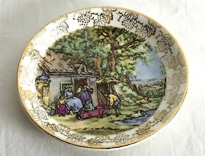 Vintage Miniature Collector MIDWINTER Staffordshire England Plate 8.5cm Diameter