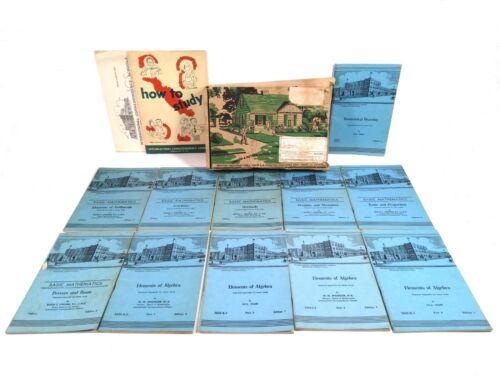 INTERNATIONAL CORRESPONDENCE SCHOOL BOOKS 1945-56 BASIC MATH LOT OF 11 BOOKLETS