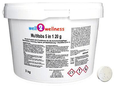 Kleine Chlor Multitabs 5in1 20g / Chlortabletten 20g - 3,0 kg Kleine Tabs